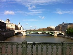 Paris, looking over the Seine